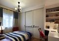 卧室,床,桌椅,衣柜,吊灯