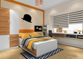 卧室,床,衣柜,柜子