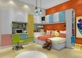 儿童房,儿童床,柜子,衣柜