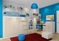 儿童房,儿童床,衣柜,桌椅,柜子,坐凳