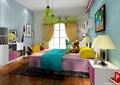 儿童房,儿童床,床头柜,台灯,柜子