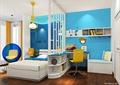 卧室,床,屏风幕墙,桌椅
