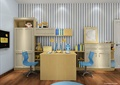 儿童房,桌椅,柜子,衣柜