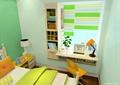 儿童房,桌椅,儿童床,窗户