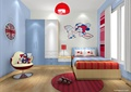 儿童房,儿童床,衣柜,椅子