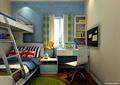 儿童房,高低床,书桌,椅子