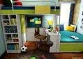 兒童房,兒童床,榻榻米式床,柜子,桌椅
