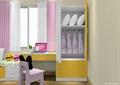 儿童房,榻榻米式床,衣柜,儿童桌椅,窗户