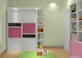 儿童房设计,衣柜,书架