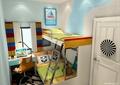儿童房设计,高低床,书桌,椅子