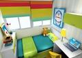 儿童房,儿童床,柜子,衣柜,挂画,窗户