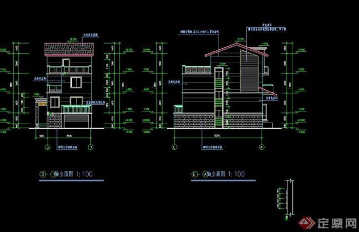 建筑别墅设计施工图绘制全过程