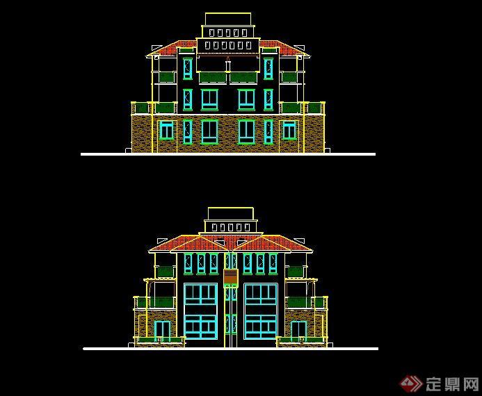 某欧式风格别墅设计全套(cad