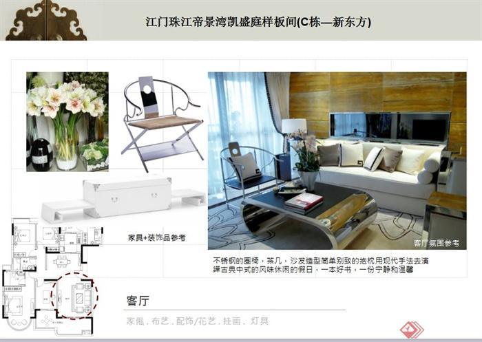 某现代风格住宅室内样板间概念方案ppt文本(1)