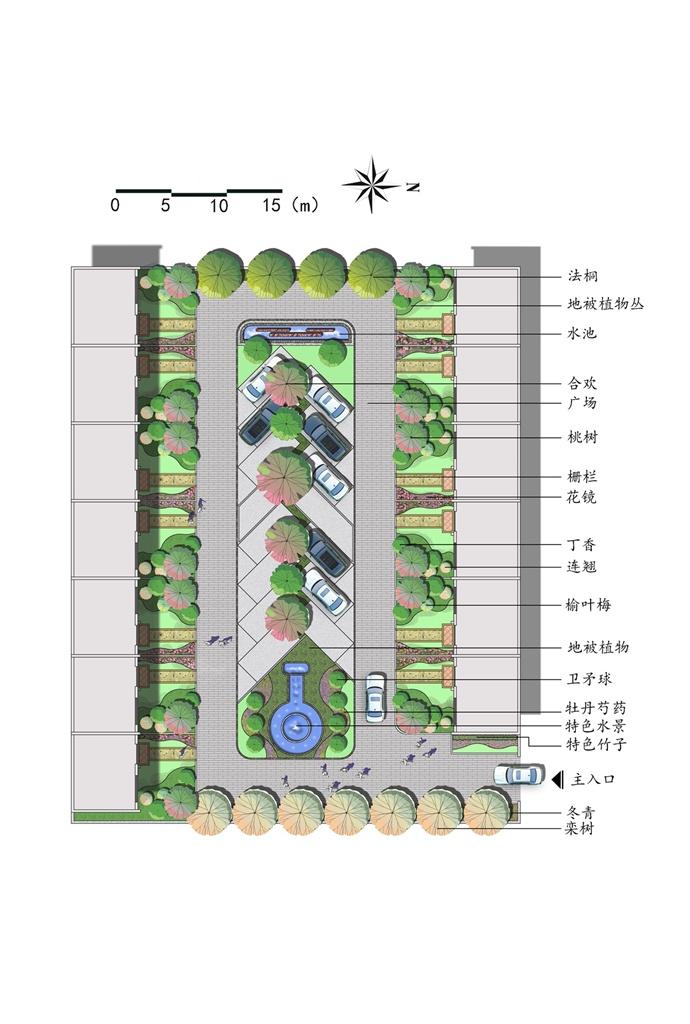 庭院设计-晋绘手绘