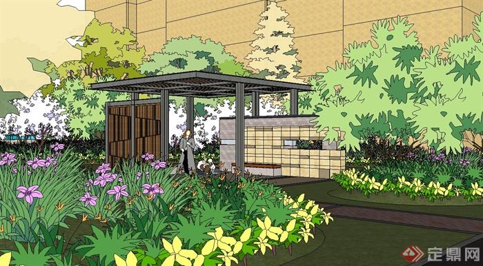 某住宅小区一部分中庭景观设计su模型[原创]