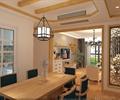 餐厅,餐桌椅,吊灯,隔断屏风
