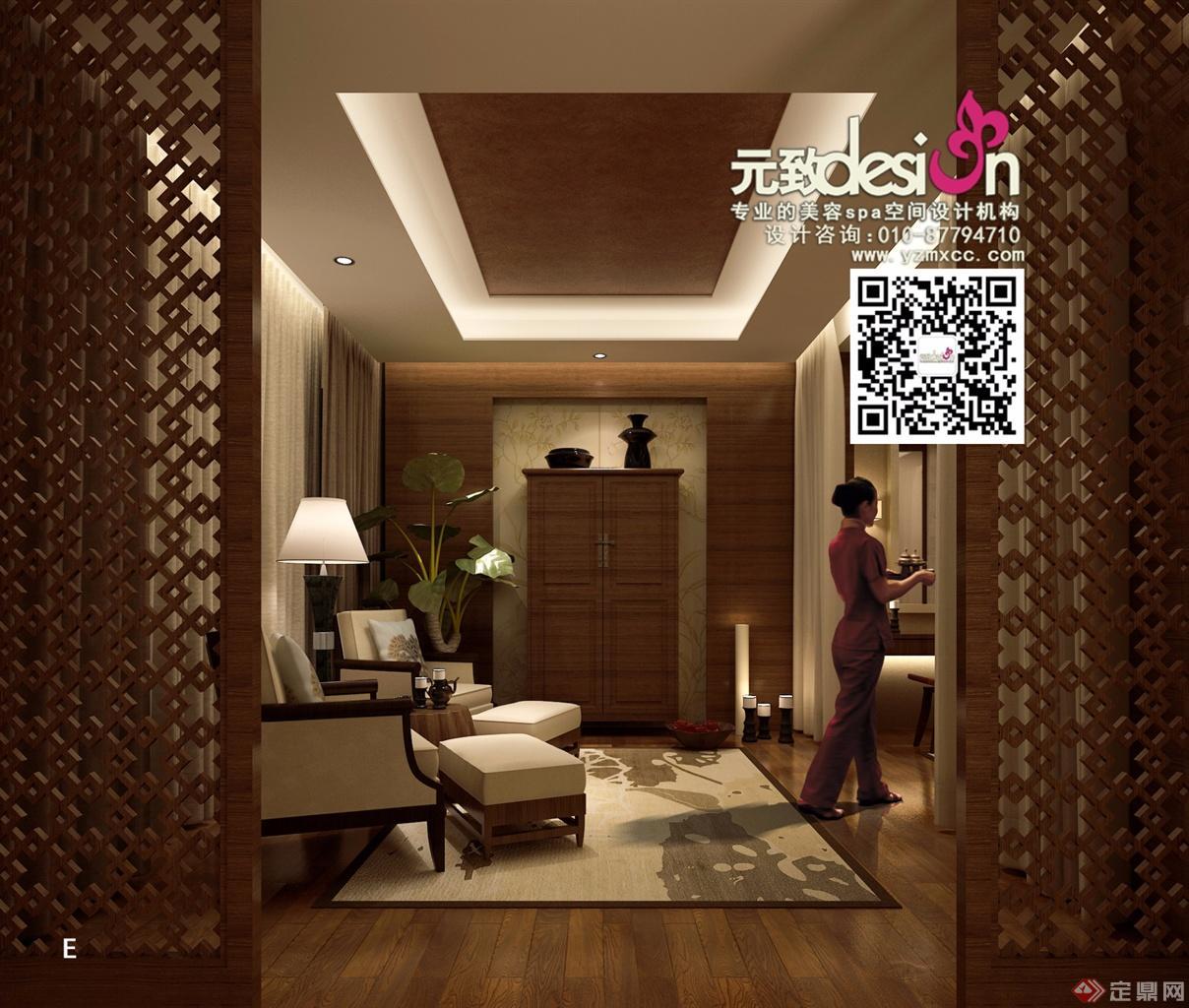 项目名称:贝黎诗美容SPA会所设计 设计单位:北京元致美秀环境艺术设计有限公司 主创设计:赵志伟 设 计 师:徐秀秀,管玉通 项目面积: 1600平方米 主要材料: 石材、实木、质感涂料、乳胶漆、硬包等 美容店如今是以五星级会馆的标准作为发展趋势的,从特色、服务、功效和销售四个方面来作为突破点。