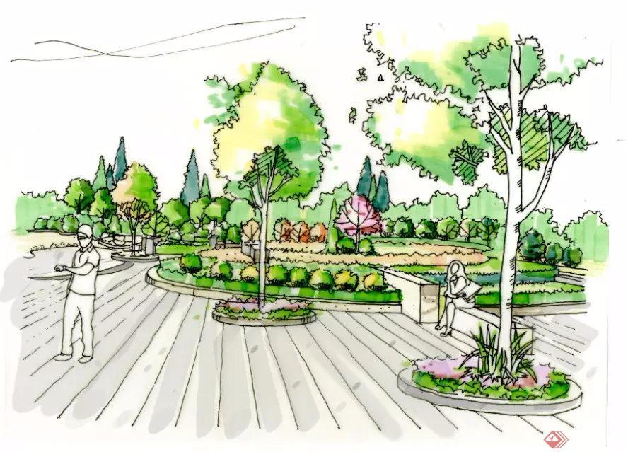 美丽的花园简笔画