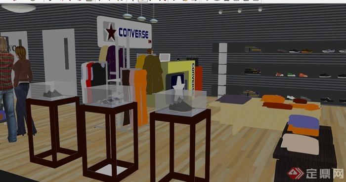 某v品牌品牌专卖店室内设计SU架构[原创]设计师软考系统模型图片