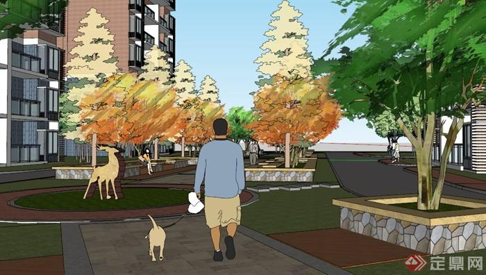 居住小区绿地设计图片展示