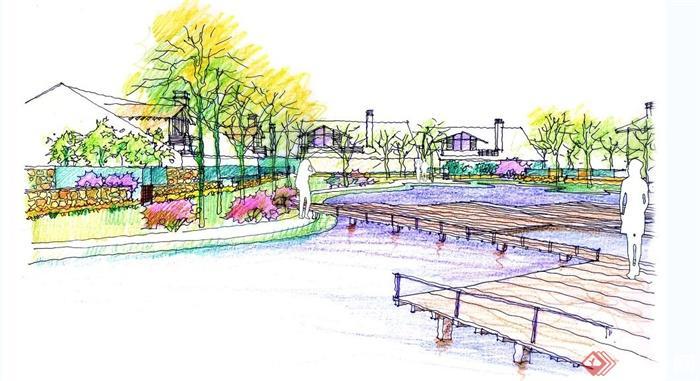 公园景观设计手绘效果图合集