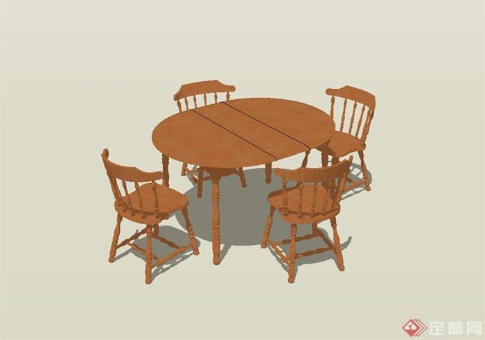 餐桌椅设计su模型[原创]