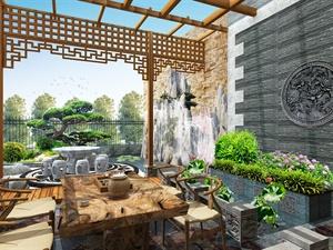 高端别墅私家花园效果图