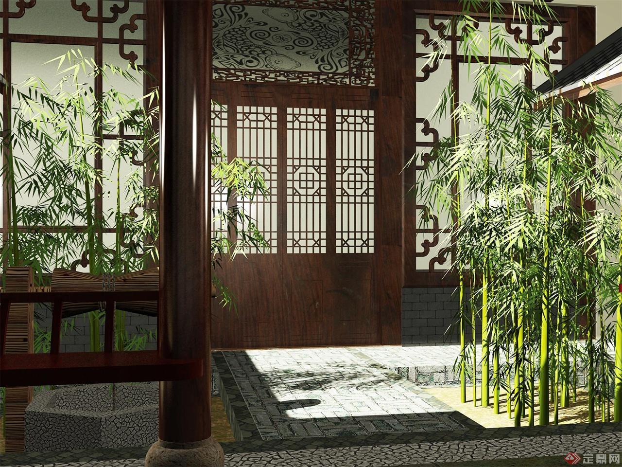 1次                                             中式四合庭院
