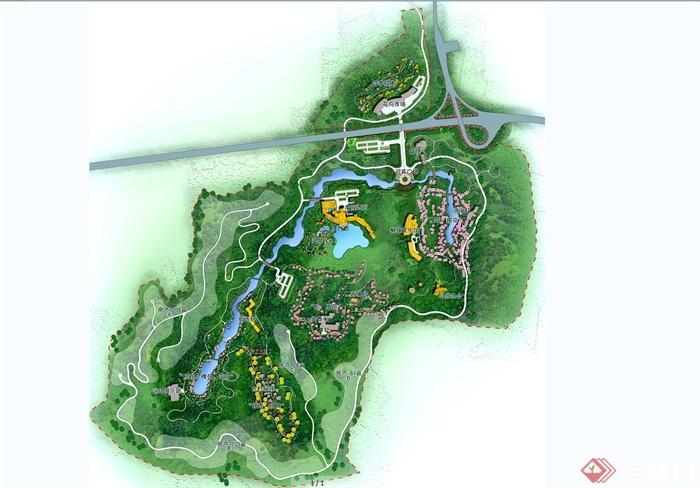 某滨水旅游景区规划设计psd方案图[原创]