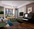 客厅,客厅沙发,桌子,茶几,吊灯,钢琴