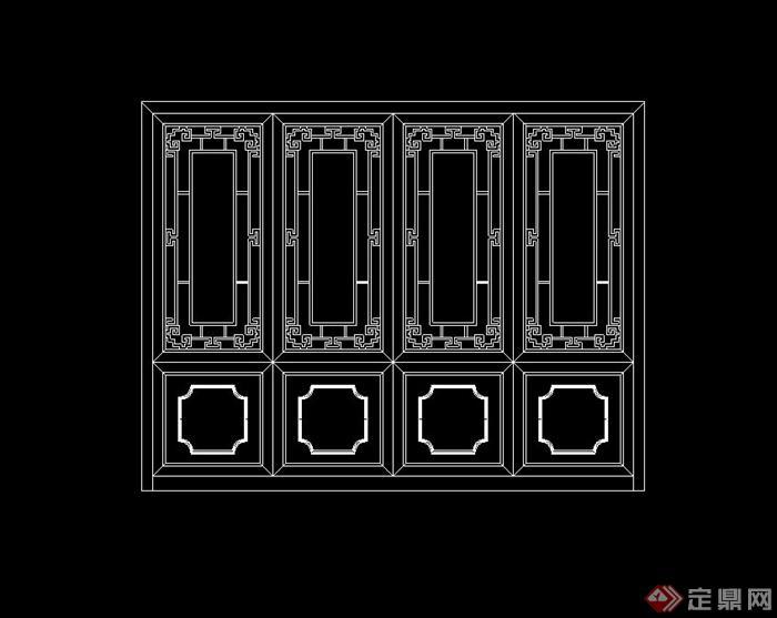 两套古典中式叫法v叫法cad立面图cad柜子中文图片