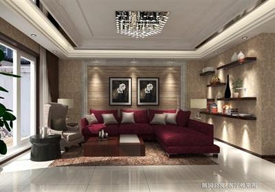 现代风格室内空间家装项目设计CAD施工图+SU模型+高清效果图(含材质贴图)