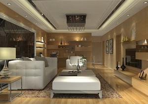 现代风格详细完整的家装项目设计(含CAD施工图+SU(草图大师)模型+效果图)