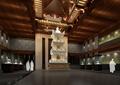 某古典中式寺庙藏经楼设计cad施工图纸