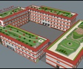 学校建筑,教学楼,屋顶花园