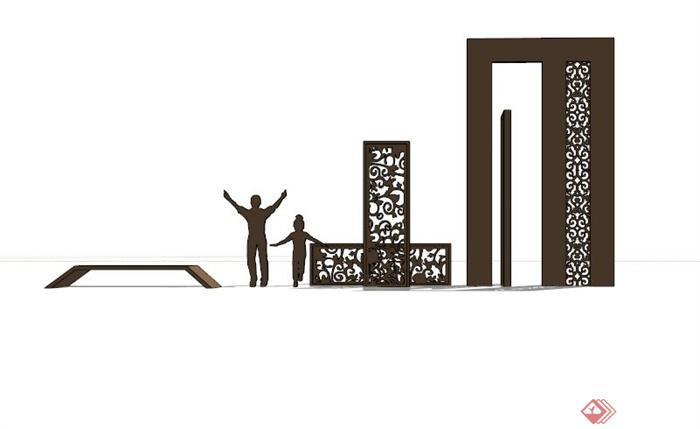 中式镂空浮雕雕塑设计稿