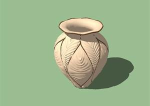 现代精致陶罐小品设计SU(草图大师)模型
