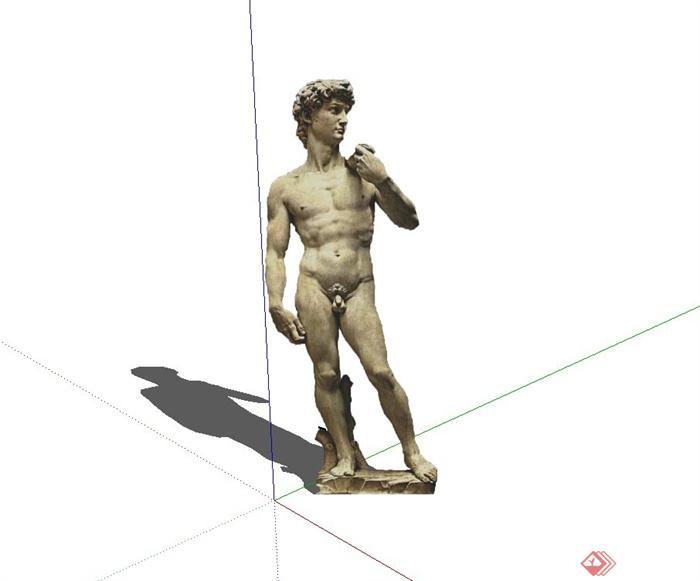 欧式2D裸男人物雕像设计su模型,该模型为2D模型,模型有材质贴图,可下载直接用于相关雕塑设计使用,有需要请自行下载使用。