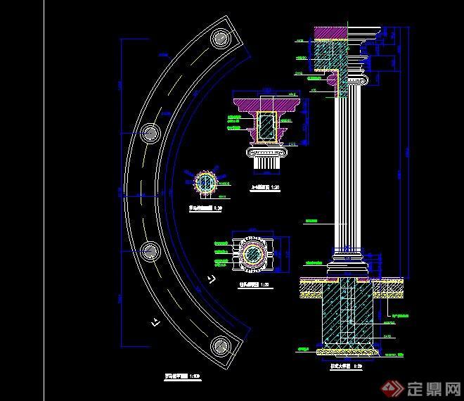 欧式廊架设计全套CAD施工图,该设计风格为欧式设计风格,主材为石材,施工图详细,标准,包含平面图,立面图,结构图,大样图等,模型制作美观详细,细节部分制作精致,有材质贴图,具有一定参考使用价值,欢迎下载使用。