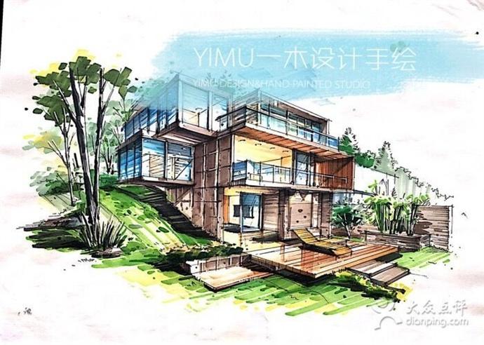 建筑手绘马克笔