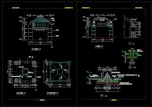 现代景观亭设计cad施工图