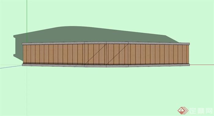 简约石拱桥设计SU模型