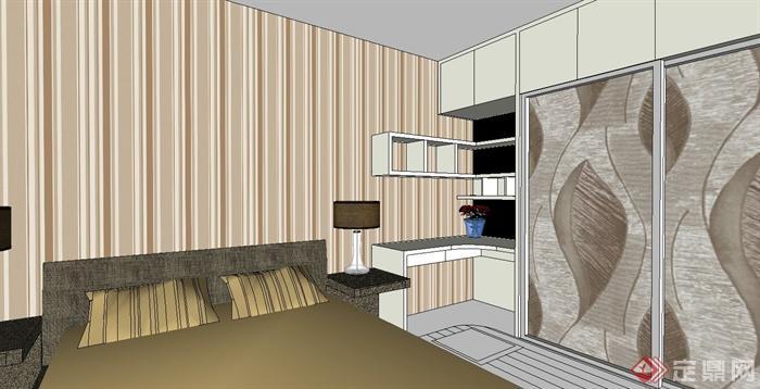 現代風格精致室內家裝設計su模型(4)