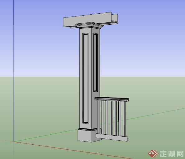 欧式建筑景观小品su模型(1)图片