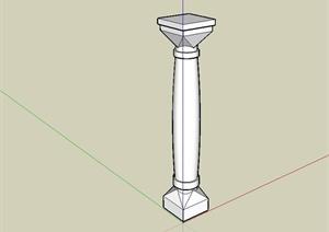 现代风格景观柱、柱子设计SU(草图大师)模型