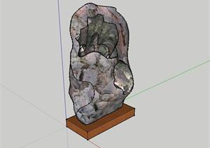 现代风格精致景石小品设计SU(草图大师)模型
