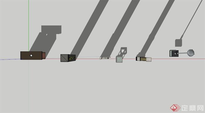 现代中式指示牌设计合集su模型(2)
