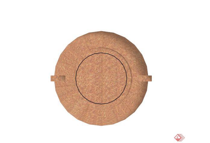 现代陶罐花钵设计su模型素材[原创]