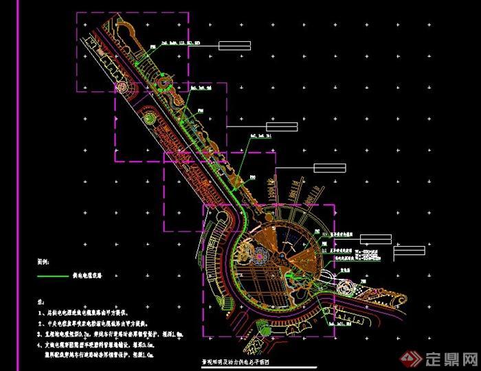 现代广场景观规划设计cad平面图[原创]